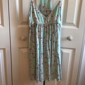 Mint floral beachy dress